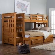 Twin Over Twin Bunk Beds With Stairs Foter - White bunk beds twin over full with stairs