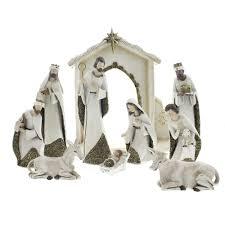 ivory and gold nativity set the catholic company