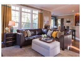Matchstick Blinds Sofa Set Cloth Brown And Cream Plain Living Room Metallic Wood