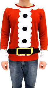 amazon com ugly christmas sweater santa claus red costume