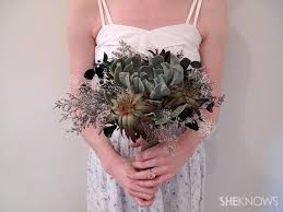 succulent bouquet diy succulent wedding bouquet