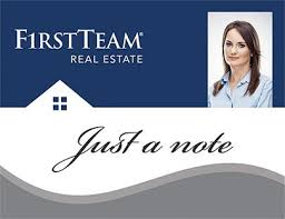 team real estate note cards stationery design and print