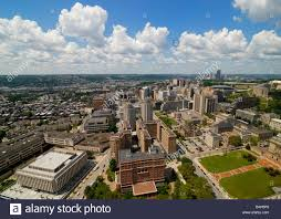 Pitt Campus Map Aerial View Of Oakland In Pittsburgh University Of Pittsburgh