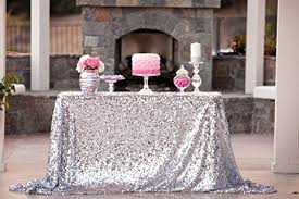 table linens for wedding new sale 50 x72 silver sequin tablecloth wedding