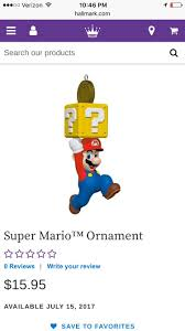 reminder mario ornament from hallmark releases tomorrow yoshi and