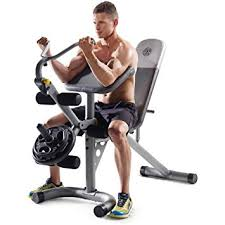 amazon com gold u0027s gym xrs 20 olympic workout bench without rack