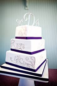 square wedding cakes purple silver white square wedding cakes photos pictures