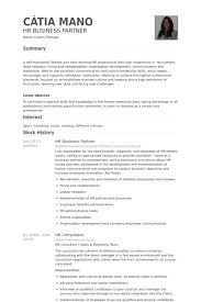 Hr Recruiter Job Description For Resume by Hr Business Partner Resume Samples Visualcv Resume Samples Database
