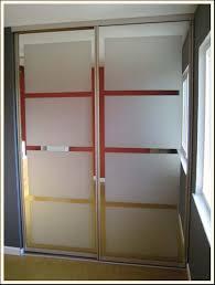 Closets Doors Idea Updating Mirrored Closet Doors With Decals Trading Phrases