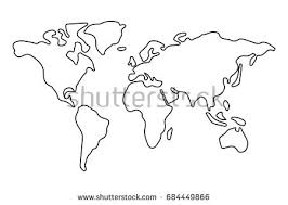 outline of world map blank outline map of usa free vector stock