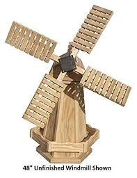 amish made working windmill yard decoration 48