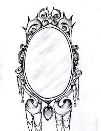 drawn mirror antique mirror pencil and in color drawn mirror