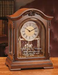personalized anniversary clock personalized bulova durant anniversary retirement mantel clock