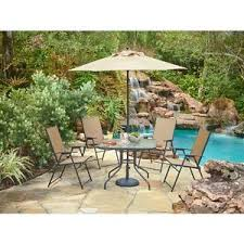 Outdoor Patio Set With Umbrella Patio Table And Chairs Ebay