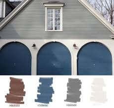 house exterior grey white but with blue green door house