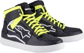 black motorcycle shoes stadium urban street motorcycle riding shoes black yellow red