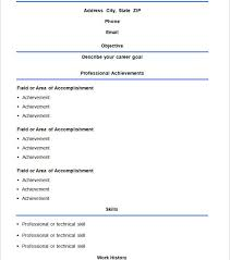 Easy Resume Sample by Project Ideas Easy Resume Template 8 Basic Resume Template 51 Free
