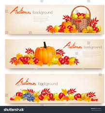 three happy thanksgiving banners vector stock vector 322070081