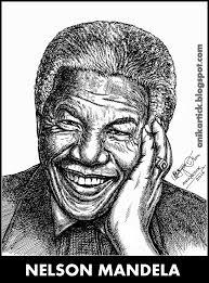 nelson mandela portrait portrait sketch portrait in pen