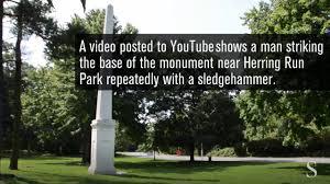christopher columbus monument vandalized in baltimore baltimore