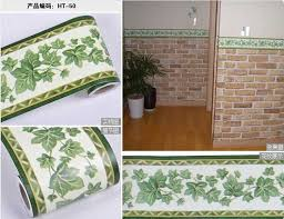 Wallpaper Borders For Bathrooms Waterproof Waistline Stickers Flower Wallpaper Border Self