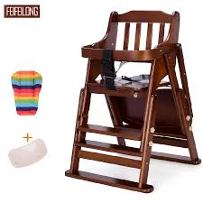Booster Seat Dining Chair Pine Wodden Baby Dining High Chair Adjustable Baby Seat Baby Tray