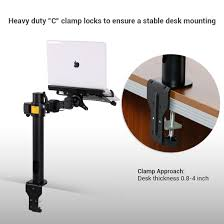 d1l articulating single laptop mount for 10 u2033 27 u2033 u2013 fleximounts