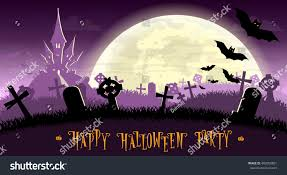 Scary Monsters Halloween Halloween Background Monsters Bats On Old Stock Vector 482956801