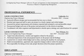 Entry Level Project Manager Resume Sample by Microsoft Project Manager Resume Reentrycorps
