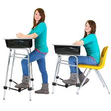 standing desk conversion kit with footfidget 1 u201d dia flaghouse