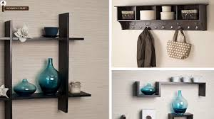 buy wall shelves online wooden wall shelves woodenstreet