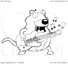 cartoon clipart of a black and white chubby tazmanian devil