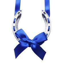 lucky horseshoe gifts decorated horseshoes with ribbon flower petal confetti
