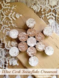 classic diy wine cork snowflake ornament snowflake ornaments
