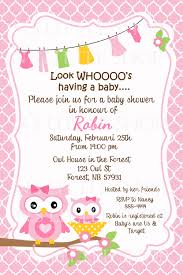 Simple Invitation Card Magnificent Ideas Baby Shower Invitations Cards Branches Brown Owl