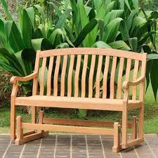 Grandin Road Outdoor Furniture by All Natural Teak Glider Bench Grandin Road