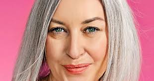 what enhances grey hair round the face how to let your hair go grey with style tips on how to care for
