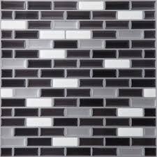 magic gel silver black 9 125x9 125 self adhesive vinyl wall tile