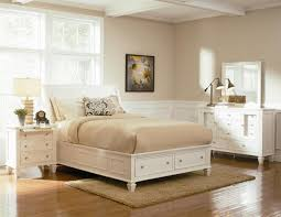 White Painted Oak Furniture Full Size White Painted Oak Wood Flat Bed Frame Which Completed