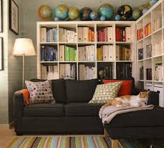 Put The Bookshelves Behind The Sofa To Save Space AND Bring Books - Save my sofa