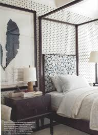 Pretty Guest Bedrooms - charming guest bedroom with graphic wallpaper and fabrics