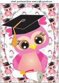 graduation owl pink graduation owl topper cup614856 659 craftsuprint