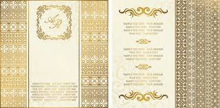 golden invitation card free vector 14 285 free vector