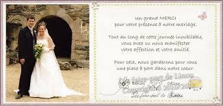 modele remerciement mariage mariage carte de remerciement mariage