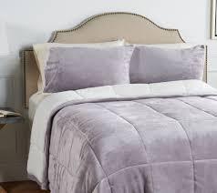 berkshire velvet soft to sherpa comforter set qvc