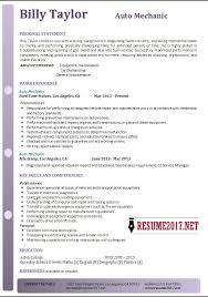 mechanics resume automotive mechanic resume occupational examples samples free