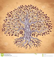 vintage tree of illustration royalty free stock image image