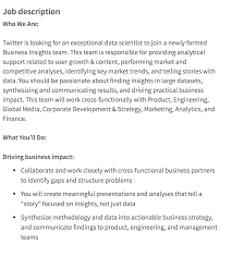 Office Engineer Job Description Data Scientist Job Description Springboard Blog