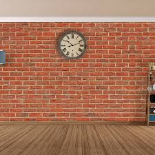 terracotta bricks self adhesive wallpaper by the binary box
