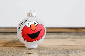 sesame elmo ornament by babygeneration on etsy